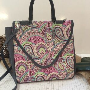 Fit Fresh Lunch Bag Paisley Large Snap Closure